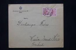 AUTRICHE - Enveloppe Commerciale De Wien Pour La France En 1897, Affranchissement Perforés  - L 79889 - Cartas