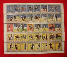 Lot 40 Vignettes Militaires Engagez-vous ! Soldats Et Uniformes Corps Frontière Troupes D'Afrique Coloniale Erinnophilie - Documents
