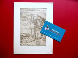 Arturo Martini Acquaforte Originale Mi Affascina L'Assurdo Ex Libris C. Belloli - Prenten & Gravure