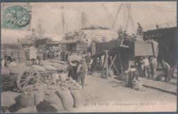Le Havre , Déchargement Des Sacs De Café , Animée - Hafen