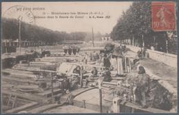 Montceau Les Mines , Bateaux Dans Le Bassin Du Canal , Animée - Montceau Les Mines