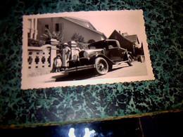 Vieille Photo Anonyme Automobile  Ancienne à Identifier * Avec Personnages - Auto's