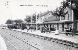 71  PARAY LE MONIAL INTERIEUR DE LA GARE - Paray Le Monial