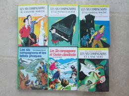 BIBLIOTHEQUE VERTE LOT DE 6 LIVRES LES SIX COMPAGNONS De P.J. BONZON - Biblioteca Verde
