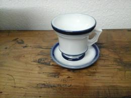 Brûlot 19e Rare Grand Modèle Valentine Bleu De Four Superbe état - Cups