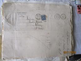Lot De 22 Daguin Double Jumele Besancon Sur Lettre Societe Generale  Timbre Sage - 1877-1920: Periodo Semi Moderno
