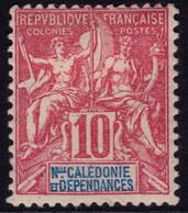 ✔️ Nouvelle Calédonie 1900/1904 - Mouchon - Yv. 60 * MH - €13 - Nuovi