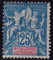 ✔️ Nouvelle Calédonie 1900/1904 - Mouchon - Yv. 62 * MH - €28 - Nuovi