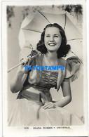 148244 ARTIST DIANA DURBIN US ACTRESS CINEMA MOVIE PHOTO NO POSTAL POSTCARD - Entertainers