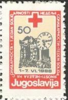 Yougoslavie 1988 Nobel Red Cross Croix Rouge MNH - Prix Nobel