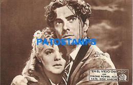 148252 ARTIST TYRONE POWER ALICE FAYE SON AMECHE US ACTOR PUBLICITY EN EL VIEJO CHICAGO NO POSTAL POSTCARD - Entertainers