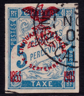 ✔️ Nouvelle Calédonie 1903 - Taxe Surcharge Cinquantenaire - Yv. 1 (o) - Segnatasse