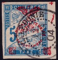 ✔️ Nouvelle Calédonie 1903 - Taxe Surcharge Cinquantenaire - Yv. 1 (o) - Portomarken