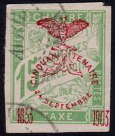 ✔️ Nouvelle Calédonie 1903 - Taxe Surcharge Cinquantenaire - Yv. 3 (o) - €10 - Strafport