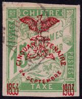 ✔️ Nouvelle Calédonie 1903 - Taxe Surcharge Cinquantenaire - Yv. 3 (o) - €10 - Segnatasse