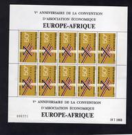 Upper Volta/Haute Volta 1968 - Airmail - 5th Anniv. Of European-African Economic Organization EUROPAFRIQUE - Full Sheet - Upper Volta (1958-1984)