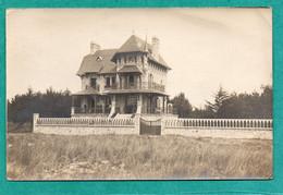 CARNAC (56) Morbihan .Rare Carte Photo VILLA SAINT MICHEL Bord De Mer Animée En 1922 - Carnac