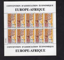 Upper Volta/Haute Volta 1969 - Airmail - European-African Economic Convention - Europe-Africa - Complete Full Sheet - Upper Volta (1958-1984)