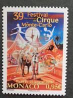 MONACO 2015 Y&T N° 2953 ** - 39e FESTIVAL DU CIRQUE - Nuevos