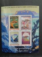 MONACO 2015 BLOC Y&T N°  ** - LES ANCIENS FIEFS DES GRIMALDI, VISITE PRINCIERE 15-16 JUIN 2015 - Unused Stamps