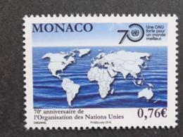MONACO 2015 Y&T N° 3003 ** - 70e ANNIV. DES NATIONS UNIES - Nuevos