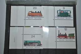 Belgique 1985 Trains MNH Complet - Neufs