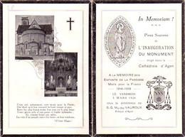S48-016 La Paroisse St Caprais D'Agen à Ses Enfants Morts Pour La France 1914-1918 - Esquela