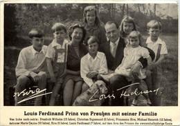 Louis Ferdinand Prinz Von Preussen Mit Seiner Familie - Familles Royales