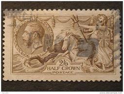 """GRAN BRETAGNA -1918- """"Giorgio V° E Cavalli Marini"""" S. 2/6 US° (descrizione) - Usati"""