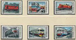 RUMÄNIEN / MiNr. 4366 - 4371 / Lokomotiven / ** / MNH - Trenes