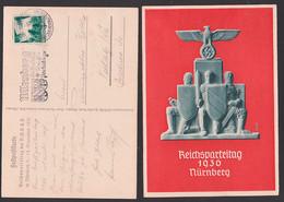 Festpostkarte Reichsparteitag Nürnberg MWSt. Offizielle Künstlerkarte Signiert RK - Covers & Documents