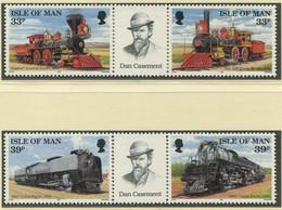 GROSSBRITANNIEN - Isle Of Man / MiNr. 512 - 515 / Transkontinentale Eisenbahnlinie / Postfrisch / ** / MNH - Trenes