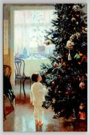 LITTLE BOY Near Christmas Tree W/ Decoration Eve Interior New Unposted Postcard - Sin Clasificación