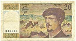 FRANCE - 20 Francs - 1980 - P 151.a - Serie L.005 - CLAUDE DEBUSSY - 20 F 1980-1997 ''Debussy''