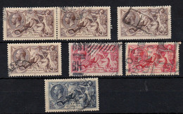 Sea Horses 1913, Used, Selection Of 7 Stamps, As Per Scan - Usati