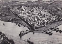 LUNI - LA SPEZIA - RICOSTRUZIONE PANORAMICA IN ETA' IMPERIALE SECONDO INGLIERI E CALABRO' IN BASE AGLI SCAVI - 1963 - La Spezia