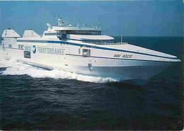Bateaux - Ferries - Navire à Grande Vitesse NCV Asco - SNCM - Ferryterranée - Carte Neuve - CPM - Voir Scans Recto-Verso - Fähren