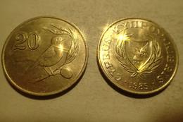 Chypre Cyprus 20 Cents 1985 KM 57 - Cyprus