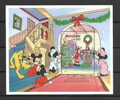 Disney Sierra Leone 1990 Cristmas MS #2 MNH - Disney