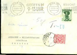 TAXE * PORT BELAST * POSTSTUK UIT 1958 Van WIEN OSTERREICH Naar SEEBODEN (11.852j) - Segnatasse
