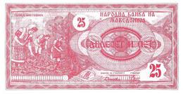 MACEDOINE 1992 25 Denier - P.02a Neuf UNC - Macedonië