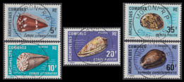 Comores (Archipel Des) - N° 72 à 76 (YT) N° 72 à 76 (AM) Oblitérés De Moroni RP. - Used Stamps