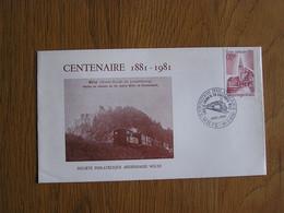 CENTENAIRE 1881 1981 Chemin De Fer Ligne  WILTZ KAUTENBACH CFL 1984  6 F Luxembourg FDC First Day Cover 1ère Marcophilie - FDC