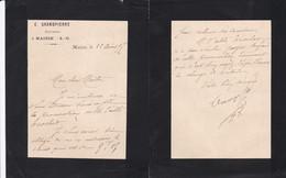 MAISSE E GRANDPIERRE NOTAIRE PETITE LETTRE ANNEE 1897 - Unclassified