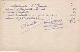 PREVAL SARTHE PAR CHAPELLE DU BOIS MARCEL LETESSIER MARECHALERIE SERRURERIE MACHINES AGRICOLES ANNEE 1950 - Unclassified