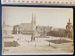 Dresden Zwinger Alte Photo Auf Karton Um 1900/ Scan Beachten! - Lugares