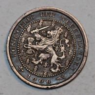 PAYS BAS - 1/2 Cent - 1906 - 0.5 Cent