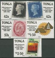 Tonga 1990 150 Jahre Briefmarken Penny Black 1123/27 Postfrisch - Tonga (1970-...)