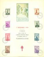 1939 Herdenkingsblad FDC Complete Serie Tuberculosebestrijding OPB 519-526 - ....-1951