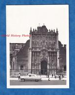Photo Ancienne Snapshot - MEXICO CITY - Automobile Devant La Cathedral - Vers 1967 - Histoire Mexique Architecture - Auto's